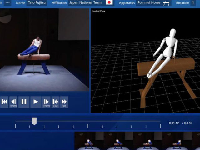 Fujitsu gymnastics technology