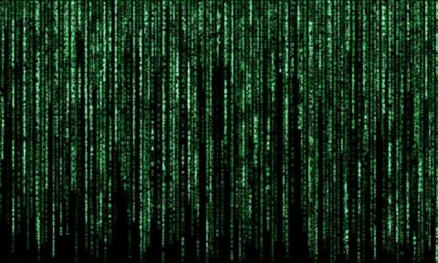 Image of The Matrix green code